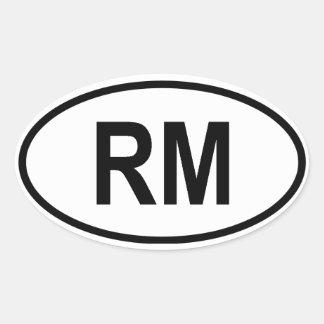 "Madagascar ""RM"" Oval Stickers"