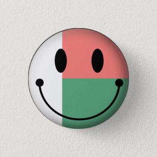 Madagascar Smiley 1 Inch Round Button