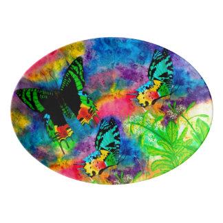 Madagascar Splash Serving Platter Porcelain Serving Platter