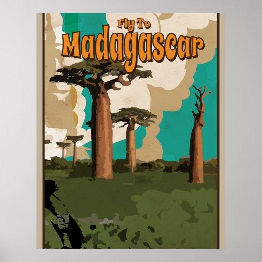 Madagascar Vintage Travel Poster