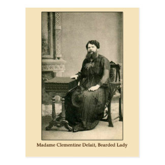 Madam Clementine Delait Bearded Lady Post Card