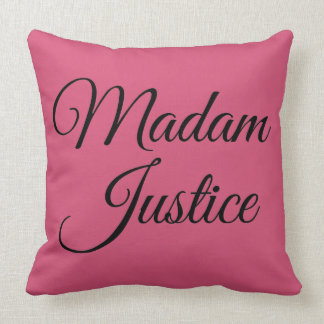 Madam Justice Throw Pillow