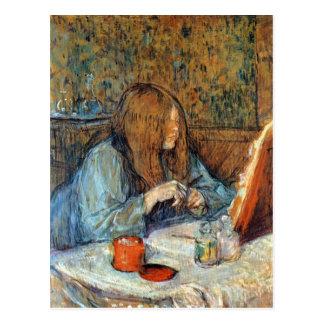 Madam Poupoule on the Toilet by Toulouse-Lautrec Postcard
