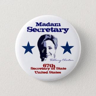 Madam Secretary 2 Inch Round Button