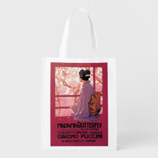 Madama Butterfly Opera Reusable Grocery Bag