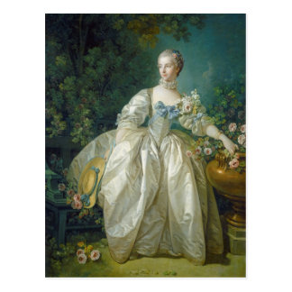 Madame Bergeret, c. 1766 (oil on canvas) Postcard