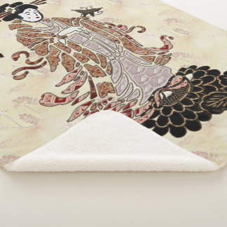 Madame Butterfly Sherpa Blanket