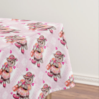 "MADAME CAT 2 Tablecloth COLOR LIPS 52""x70"""