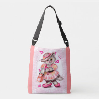 MADAME CAT  All-Over-Print Cross Body Bag MEDIUM