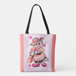 MADAME CAT  All-Over-Print Tote Bag MEDIUM