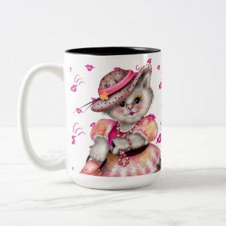 MADAME CAT CARTOON 15 oz Two-Tone Mug