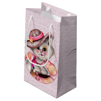MADAME CAT CARTOON Gift Bag -  SMALL GLOSSY