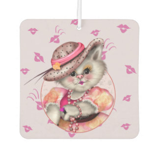 MADAME CAT CARTOON Heart Air Freshener