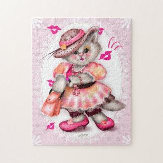 MADAME CAT LOVE 1 CARTOON PUZZLE 11 X 14