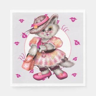 MADAME CAT LOVE CARTOON NAPKINS