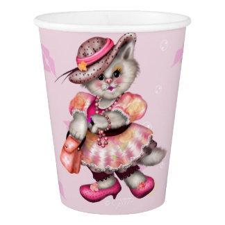 MADAME CAT LOVE  PAPER CUP