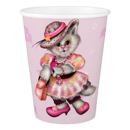 MADAME CAT LOVE  PAPER CUP
