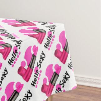 "MADAME CAT Tablecloth COLOR LIPS 60""x84"""