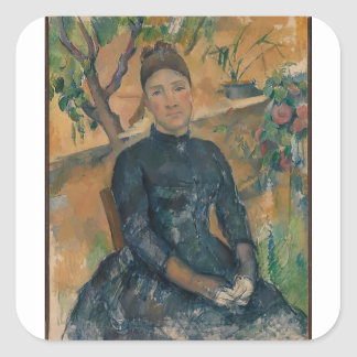 Madame Cézanne (Hortense Fiquet, 1850–1922) Square Sticker