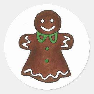 Madame Cookie de pain d épice Adhésifs