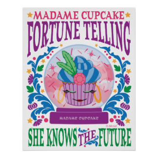 Madame Cupcake Fortune Telling Poster