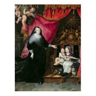 Madame de Lansac  and the Children of France Postcard