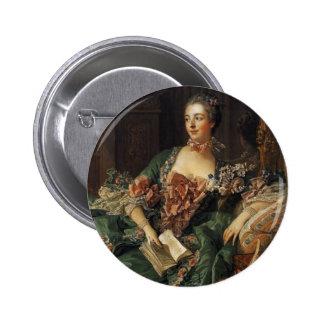 Madame de Pompadour 2 Inch Round Button