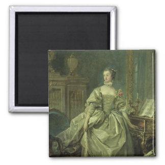 Madame de Pompadour Square Magnet