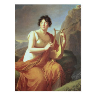 Madame de Stael as Corinne, 1809 Postcard