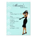 Madame élégante carton d'invitation  12,7 cm x 17,78 cm