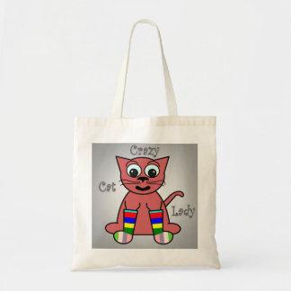 Madame folle de chat sac en toile budget