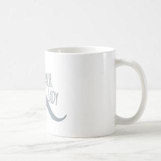 Madame folle de dinosaure mug blanc