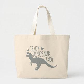 Madame folle de dinosaure sac en toile jumbo