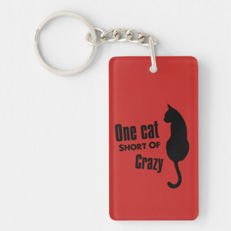 Madame folle Funny Meow Keychain de chat