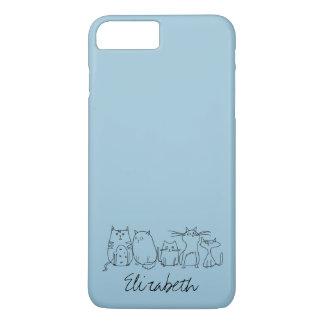 Madame folle mignonne et drôle de chat coque iPhone 7 plus
