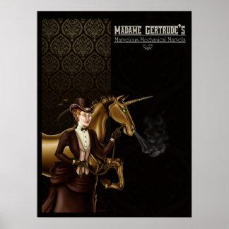 Madame Gertrude's Unicorn Poster