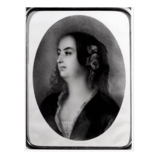 Madame Hanska  engraved by Emile Lassalle Postcard