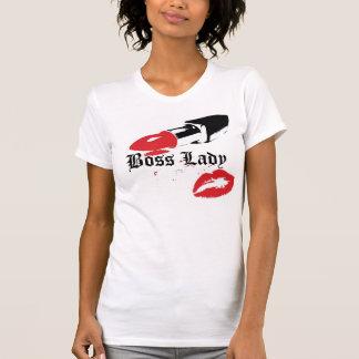 Madame Lipstick de patron et T-shirt de lèvres