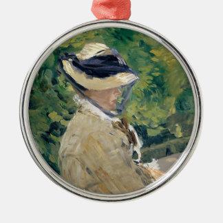 Madame Manet (Suzanne Leenhoff, 1830–1906) Metal Ornament