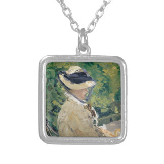 Madame Manet (Suzanne Leenhoff, 1830–1906) Silver Plated Necklace