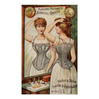Madame McCabes Corsets Ad Poster