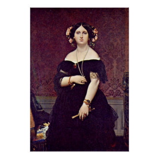 Madame Moitessier by Jean Auguste Dominique Ingres Poster