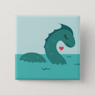 Madame Nessie 2 Inch Square Button