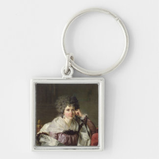 Madame Nicaise Perrin, nee Catherine Deleuze Silver-Colored Square Keychain
