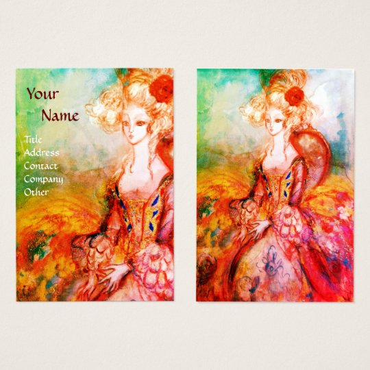 MADAME POMPADOUR Beauty Fashion Hair Gold Yellow Business Card