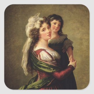 Madame Rousseau and her Daughter, 1789 Stickers