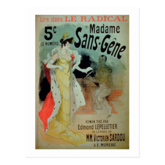 'Madame Sans-Gene' in Le Radical, by Edmond Lepell Postcard