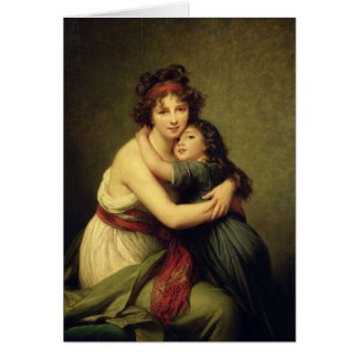 Madame Vigee-Lebrun and her Daughter Card