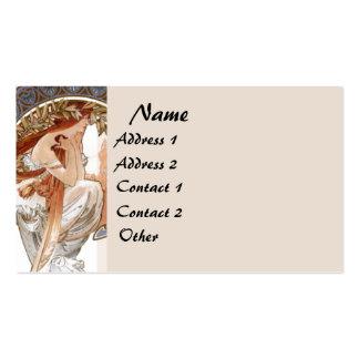 Madame vintage carte de visite de Mucha