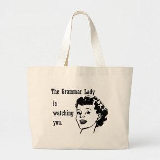 Madame Watching Bags de grammaire Sacs